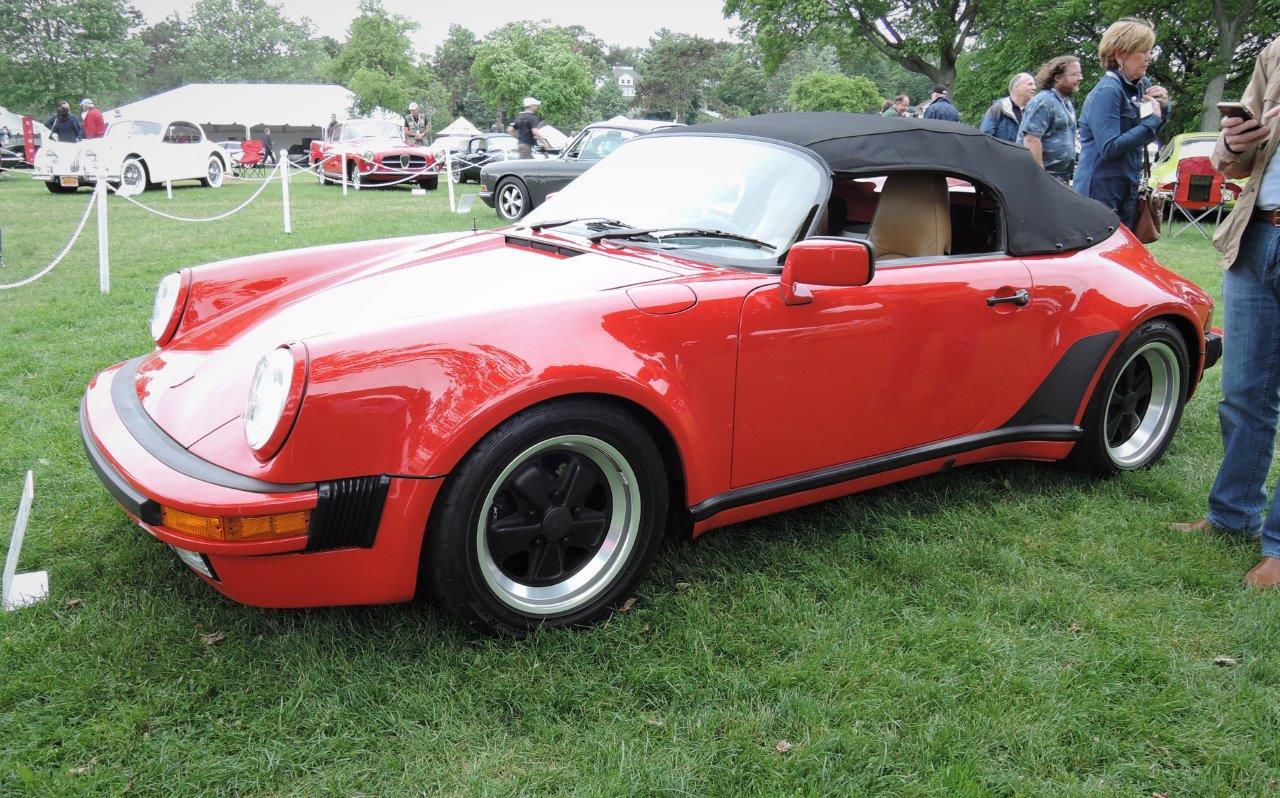 red 1989 Porsche Speedster; - 2018 Greenwich Concours International