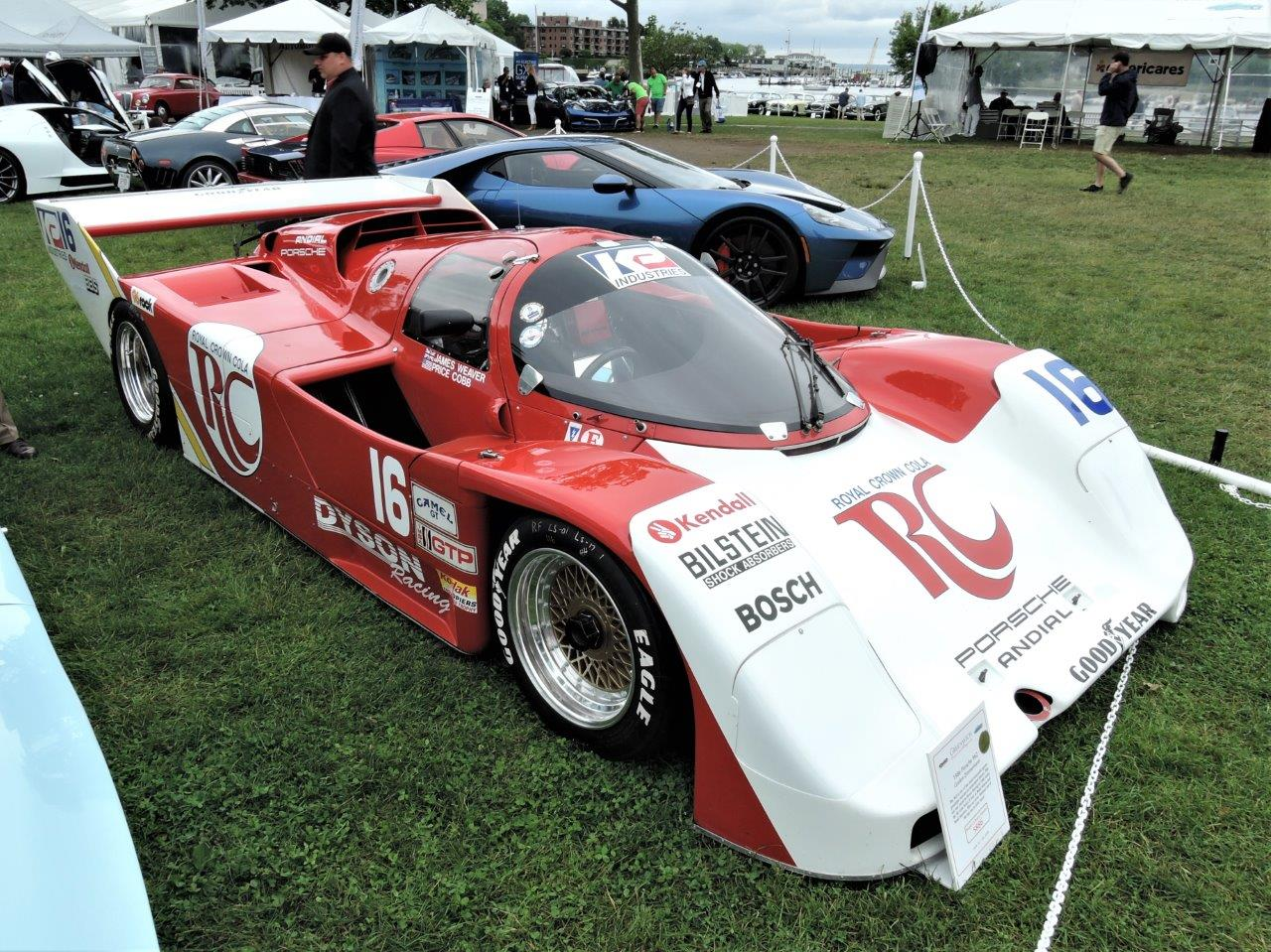 white/red RC Cola livery 1986 Porsche 962 - 2018 Greenwich Concours International
