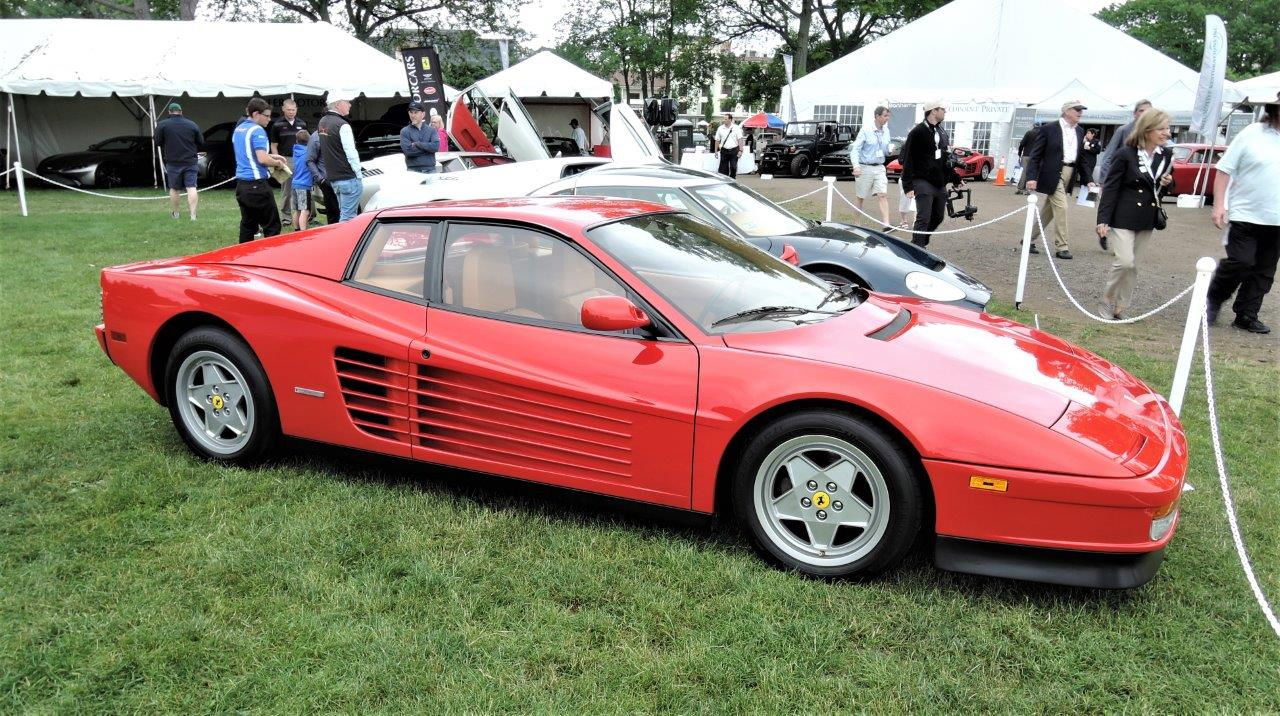 red 1991 Ferrari Testarossa - 2018 Greenwich Concours International