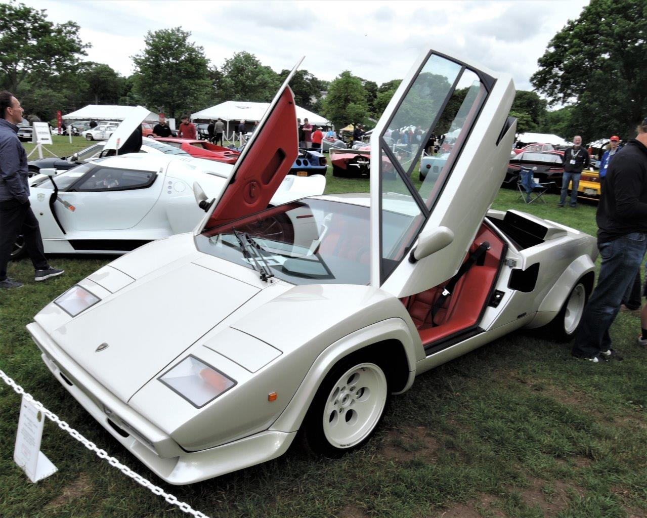 white 1983 Lamborghini Countach LP500 S - 2018 Greenwich Concours International