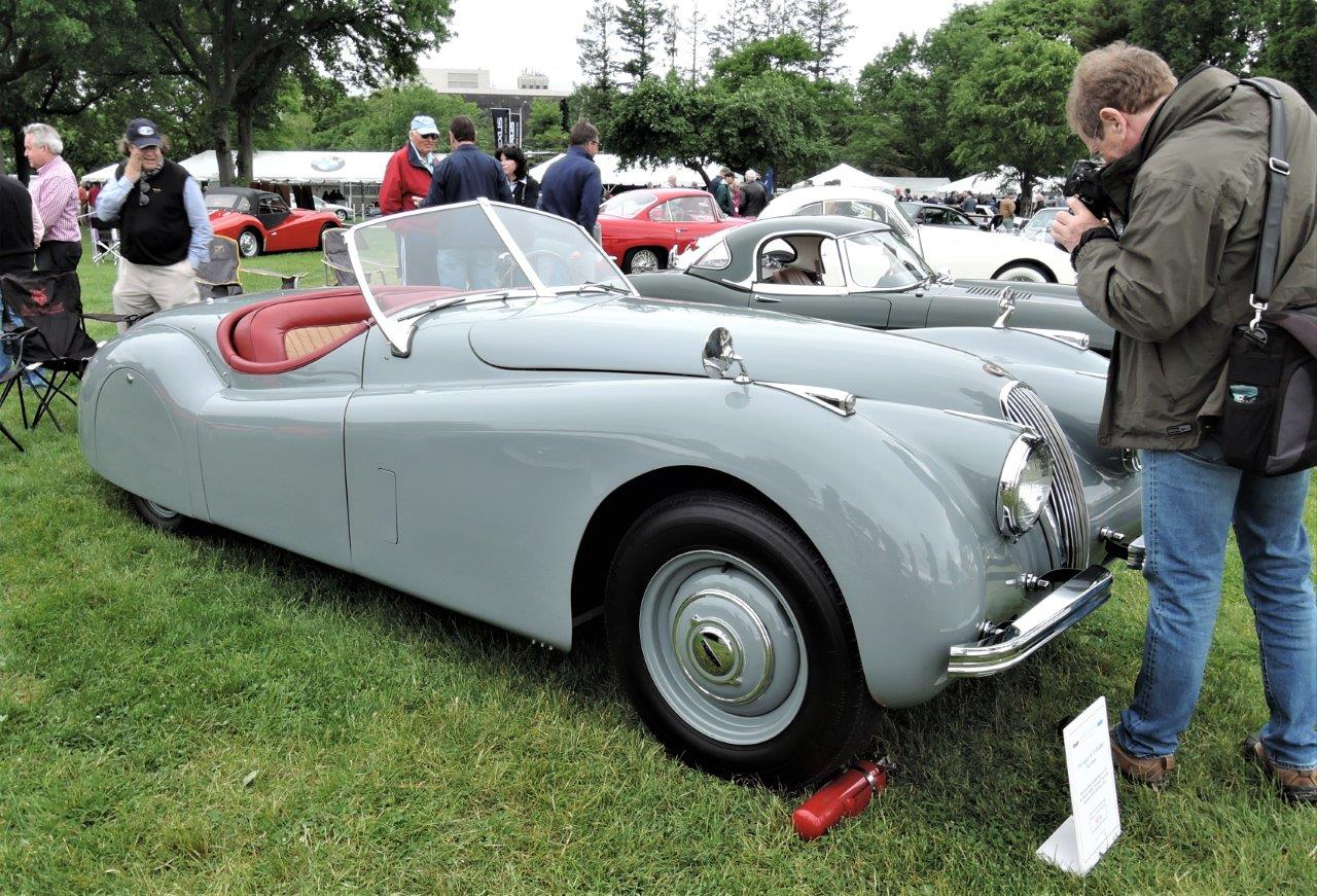 grey 1950 Jaguar XK120 Roadster - 2018 Greenwich Concours International