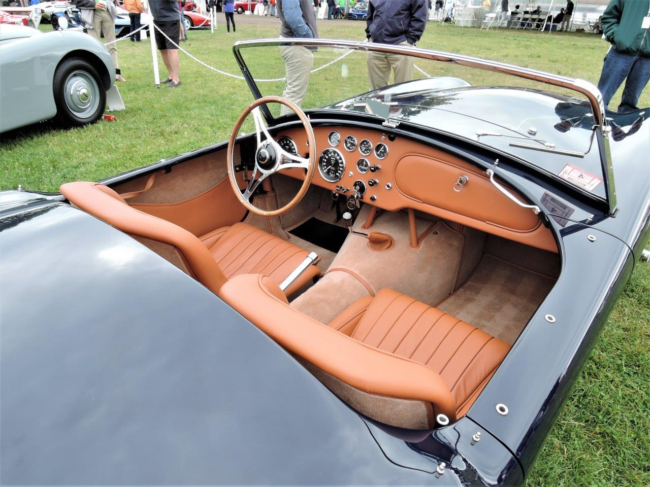 blue 1957 AC Ace Bristol - 2018 Greenwich Concours International