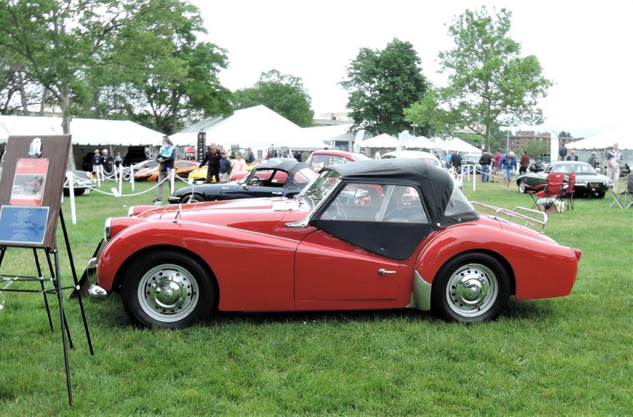 red 1963 Triumph TR 3B -  2018 Greenwich Concours International