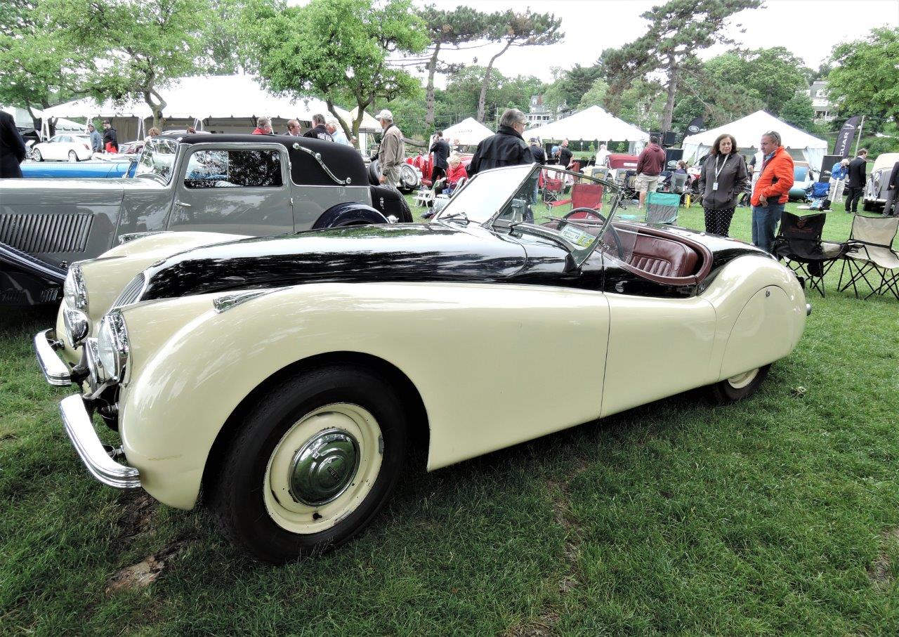 cream white/black 1949 Jaguar XK120 Alloy Roadster -  2018 Greenwich Concours International
