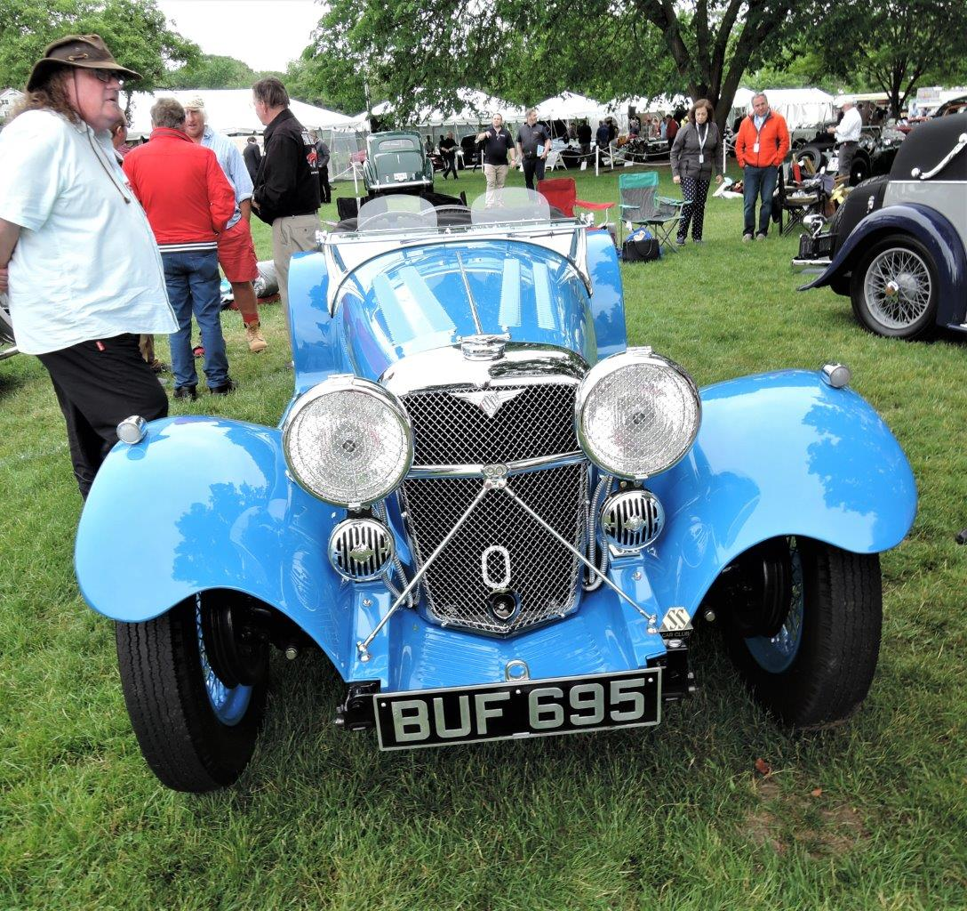 blue 1935 SS 90 Roadster - 2018 Greenwich Concours International