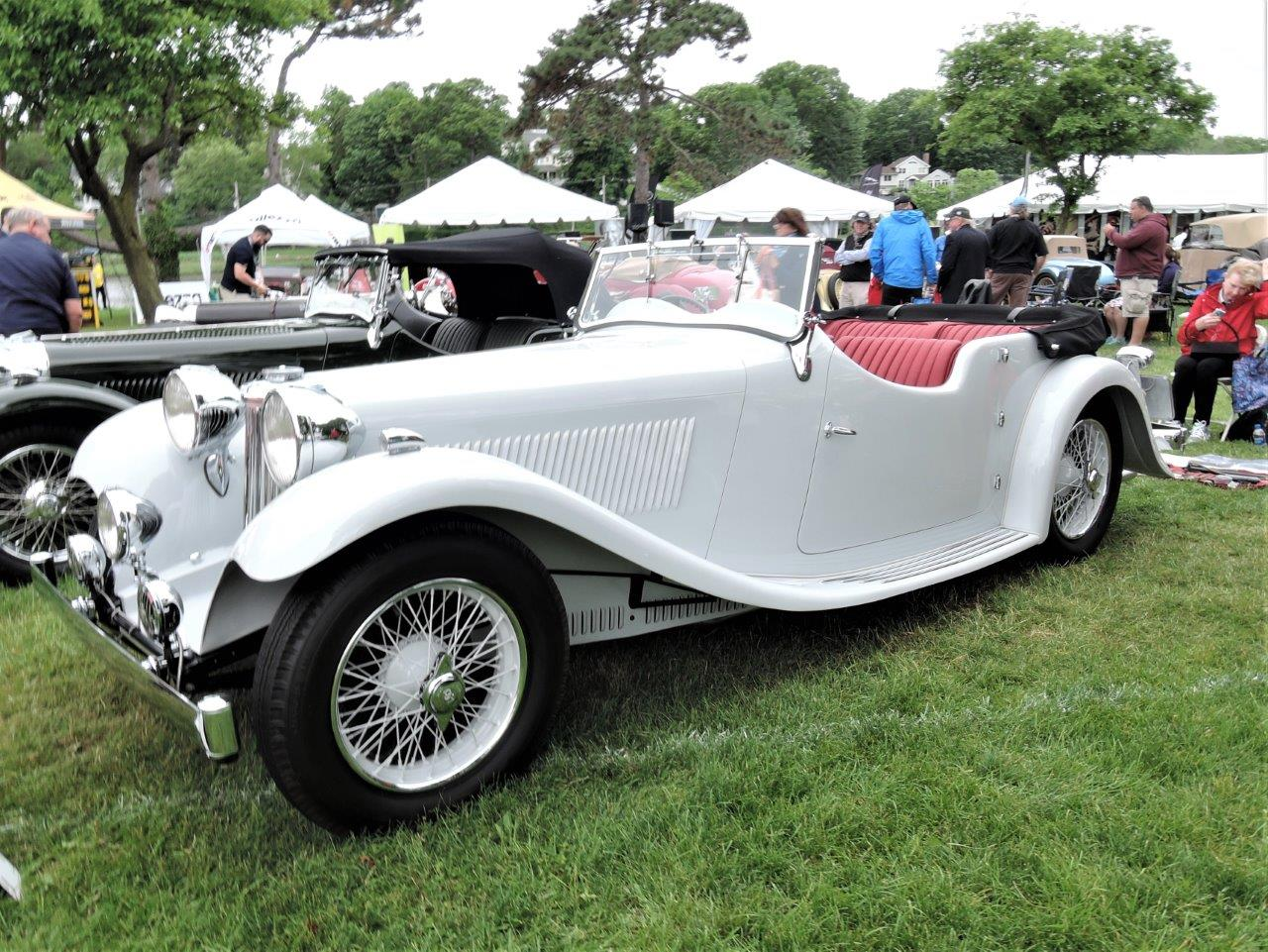 white 1935 SS1 Tourer -  2018 Greenwich Concours International