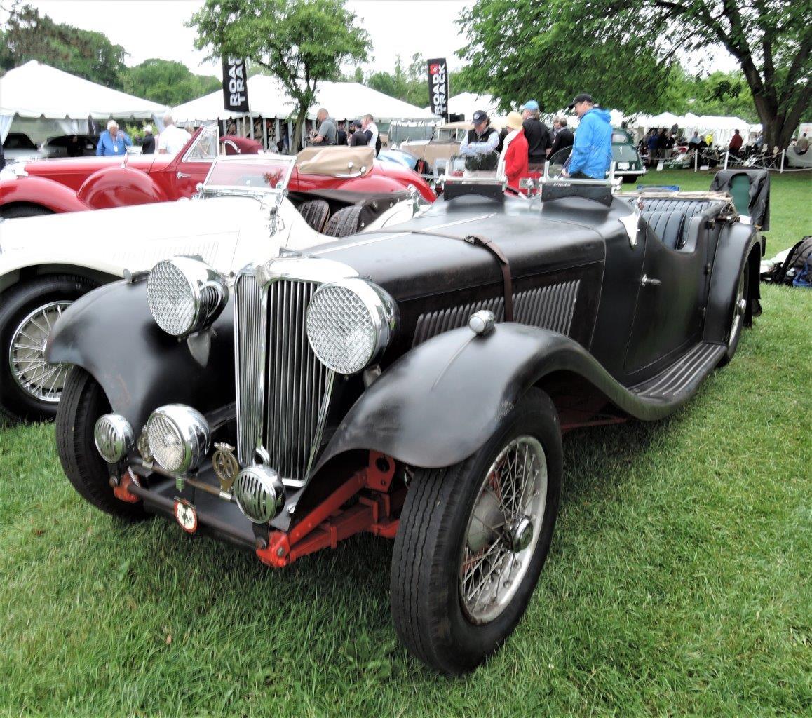 black 1938 Jaguar SS 100 Roadster - 2018 Greenwich Concours International