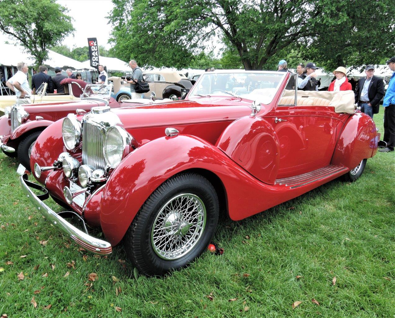 red 1939 Lagonda V-12 Drophead Coupe - 2018 Greenwich Concours International