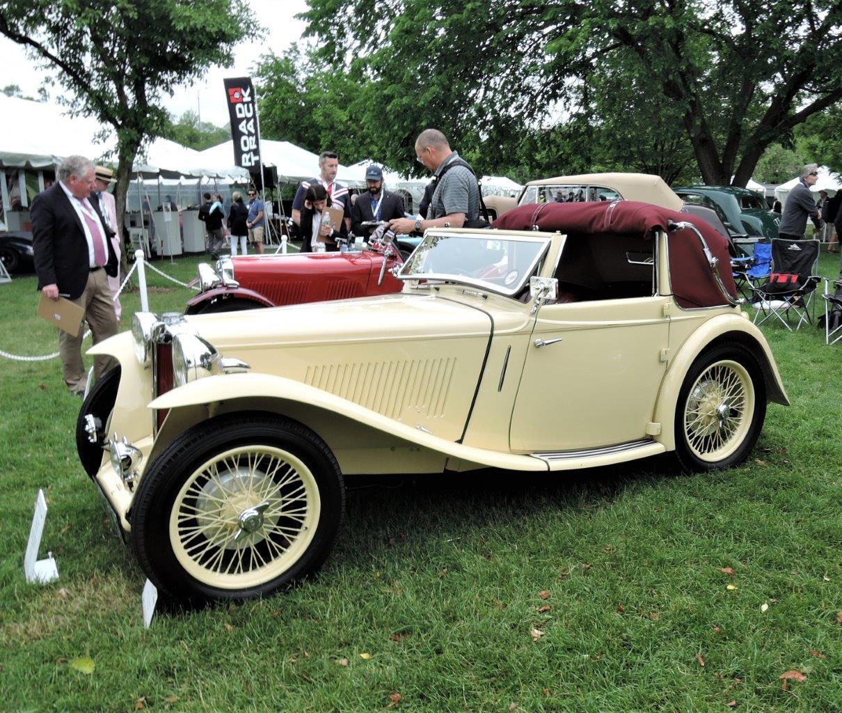 cream 1938 MG TA Tickford - 2018 Greenwich Concours International