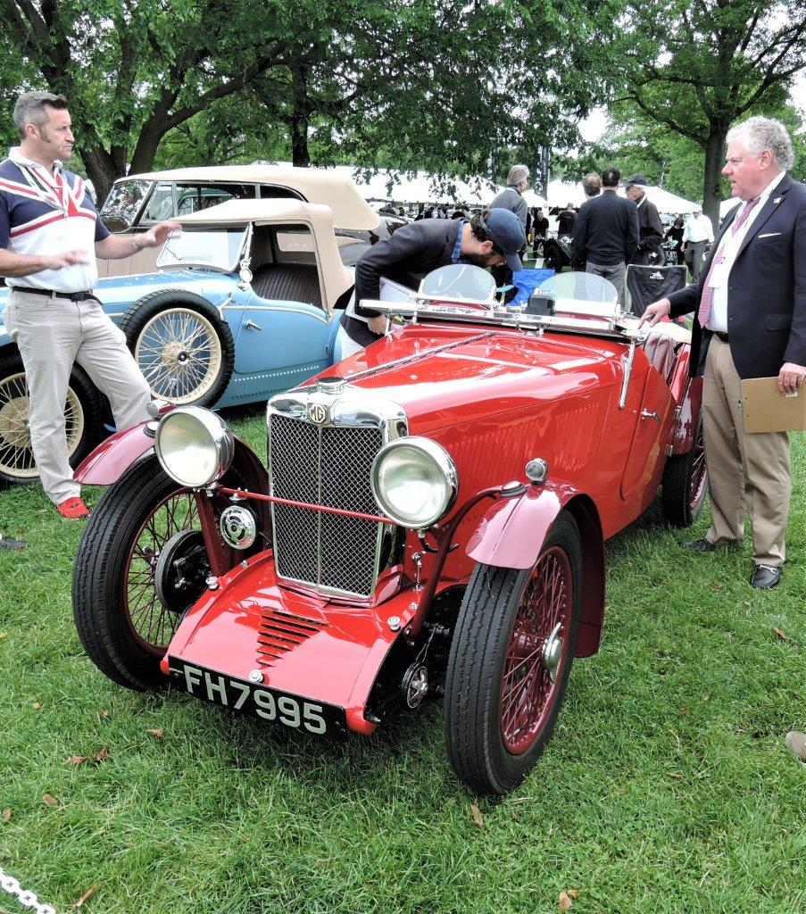 red 1932 MG J2 - 2018 Greenwich Concours International