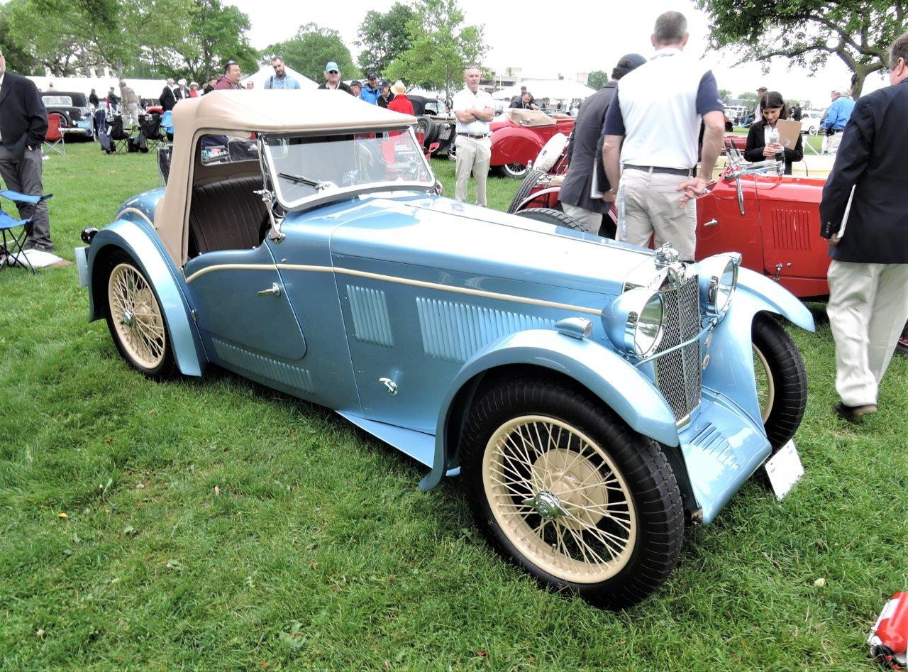 blue 1932 MG F1 Magna Stiles Special Threesome - 2018 Greenwich Concours International