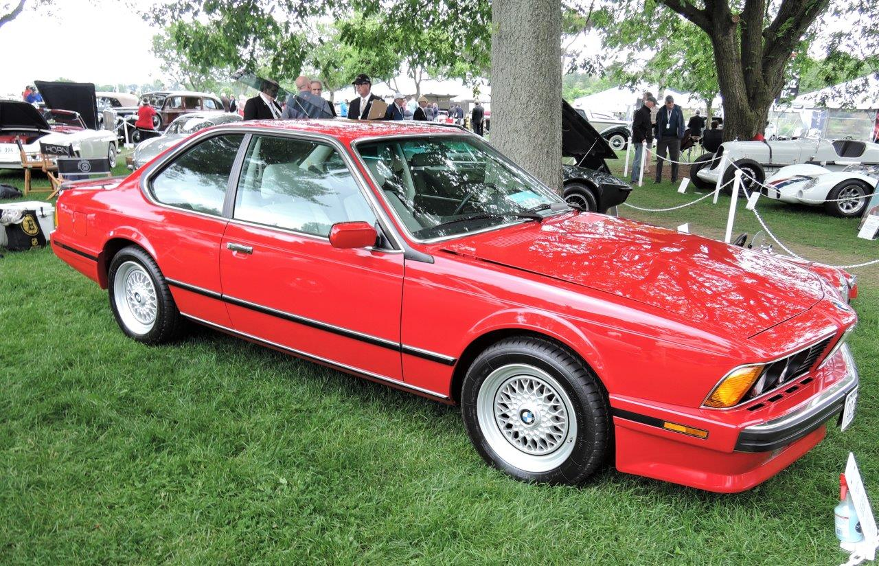 red 1988 BMW E24 M6 - 2018 Greenwich Concours International