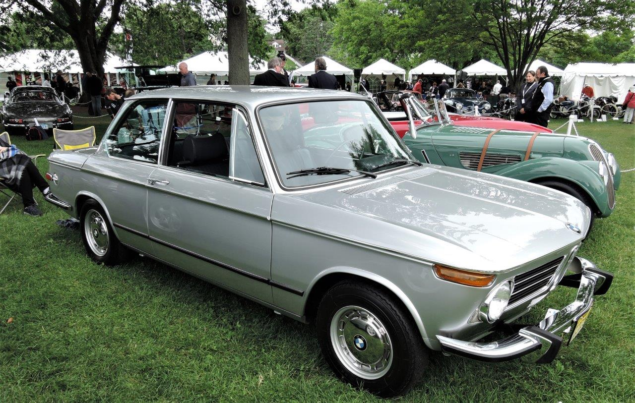 silver 1973 BMW 2002tii - 2018 Greenwich Concours International