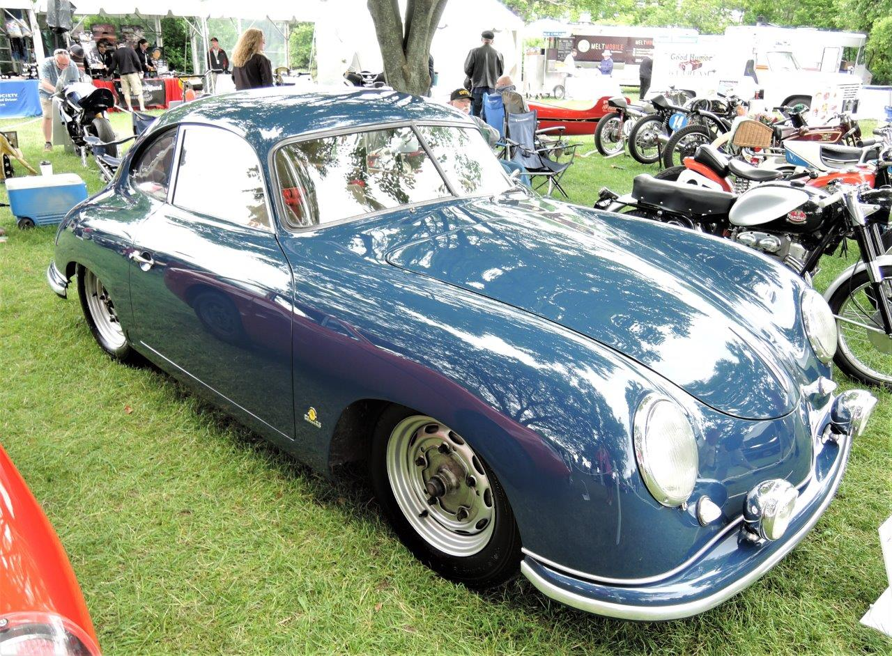 blue 1951 Porsche 356 Coupe - 2018 Greenwich Concours International