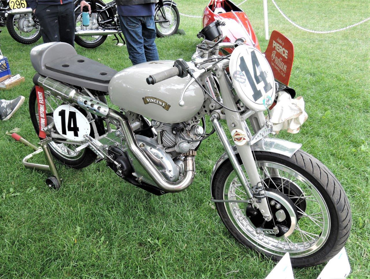 grey 1950 Vincent Grey Flash Tribute Racer -2018 Greenwich Concours International