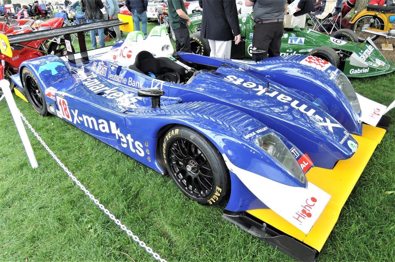 blue 2007 Pescarolo Judd LMP 1 - 2018 Greenwich Concours International