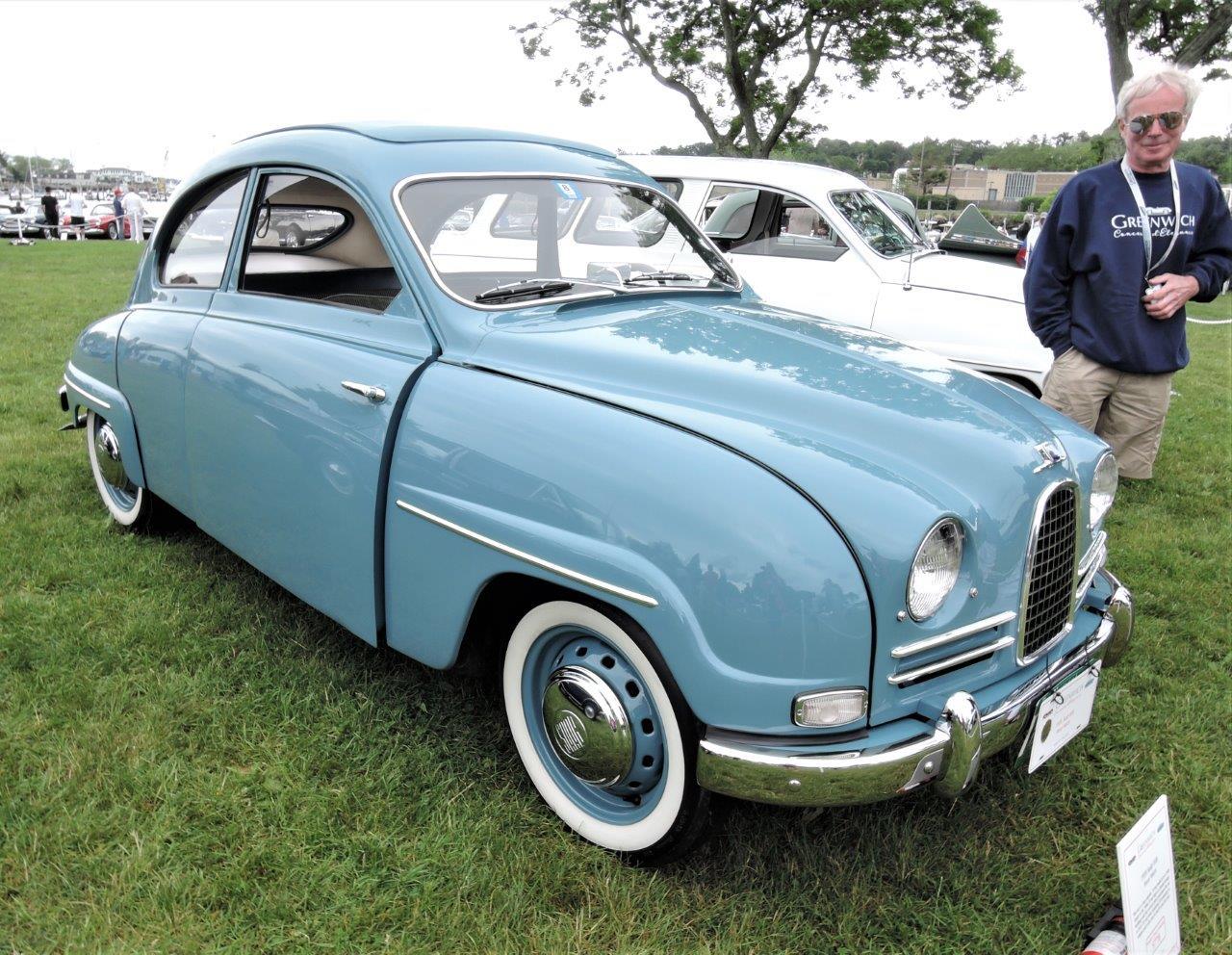 blue 1959 Saab 93B - 2018 Greenwich Concours International
