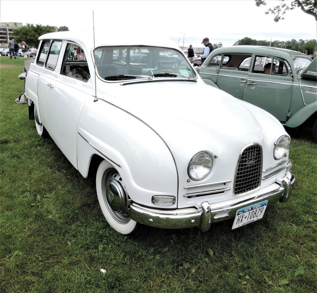 white 1963 Saab 95 Estate - 2018 Greenwich Concours International