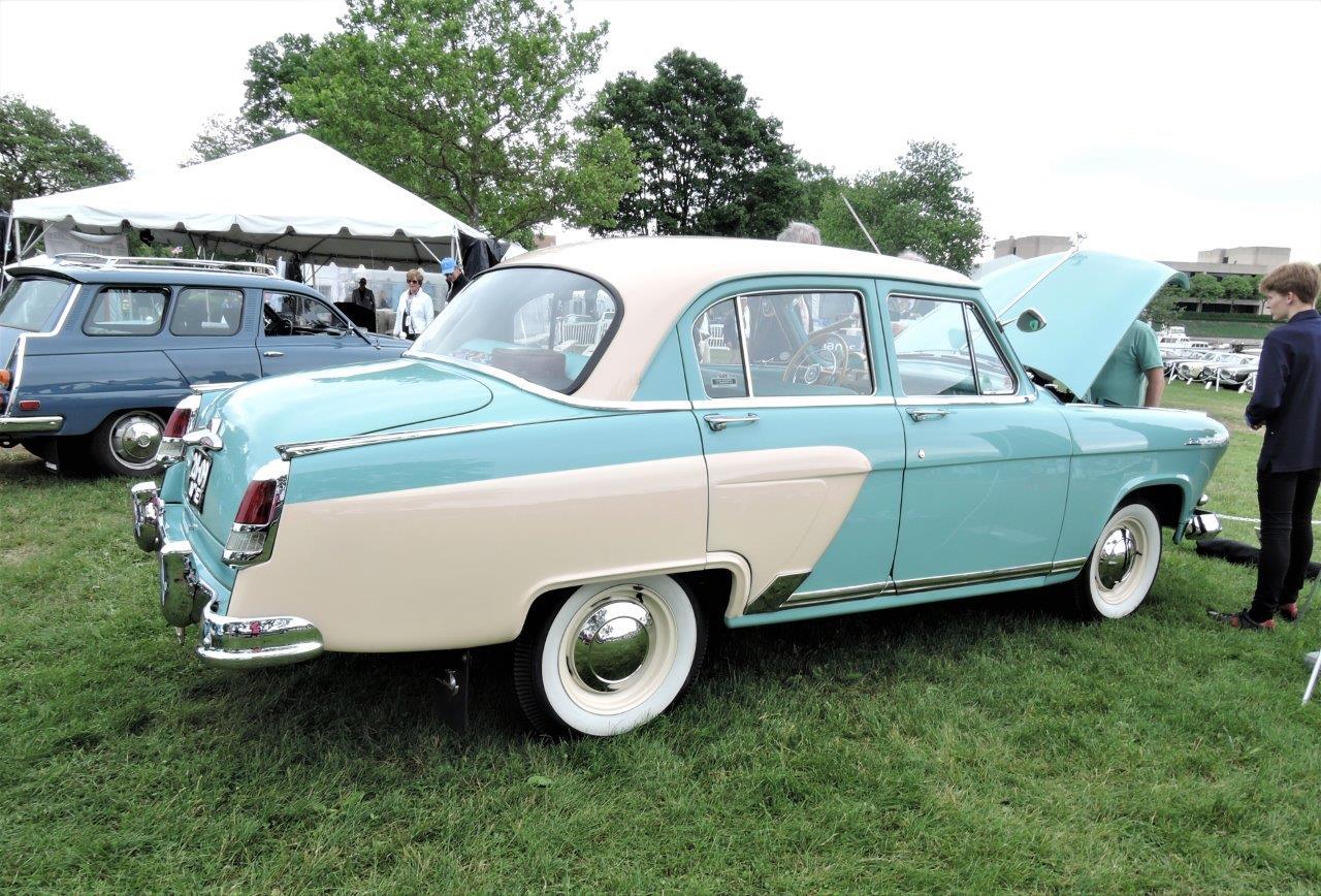 cream/mint green 1957 Volga GAZ M21V -2018 Greenwich Concours International