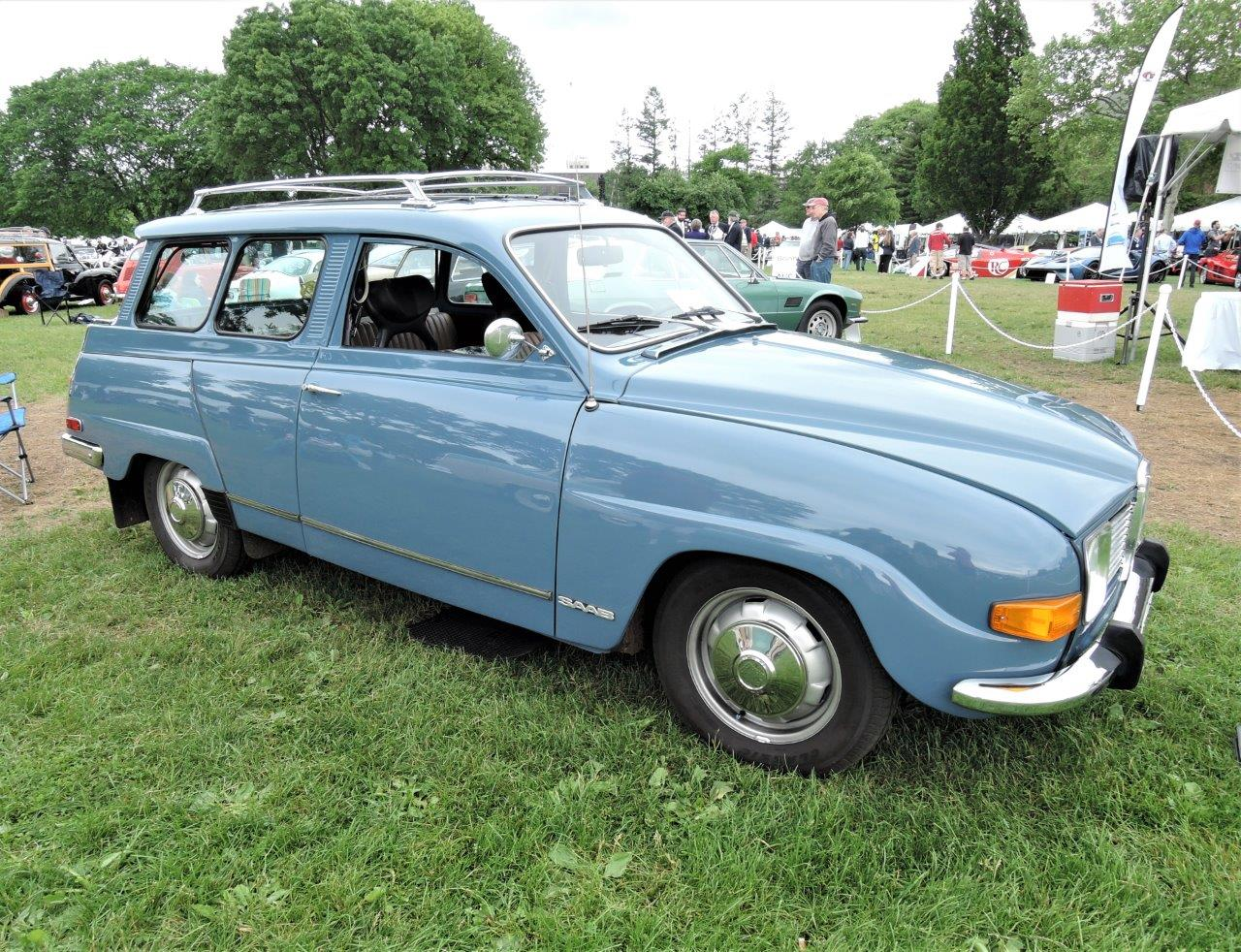 blue 1972 SAAB 95 Wagon - 2018 Greenwich Concours International