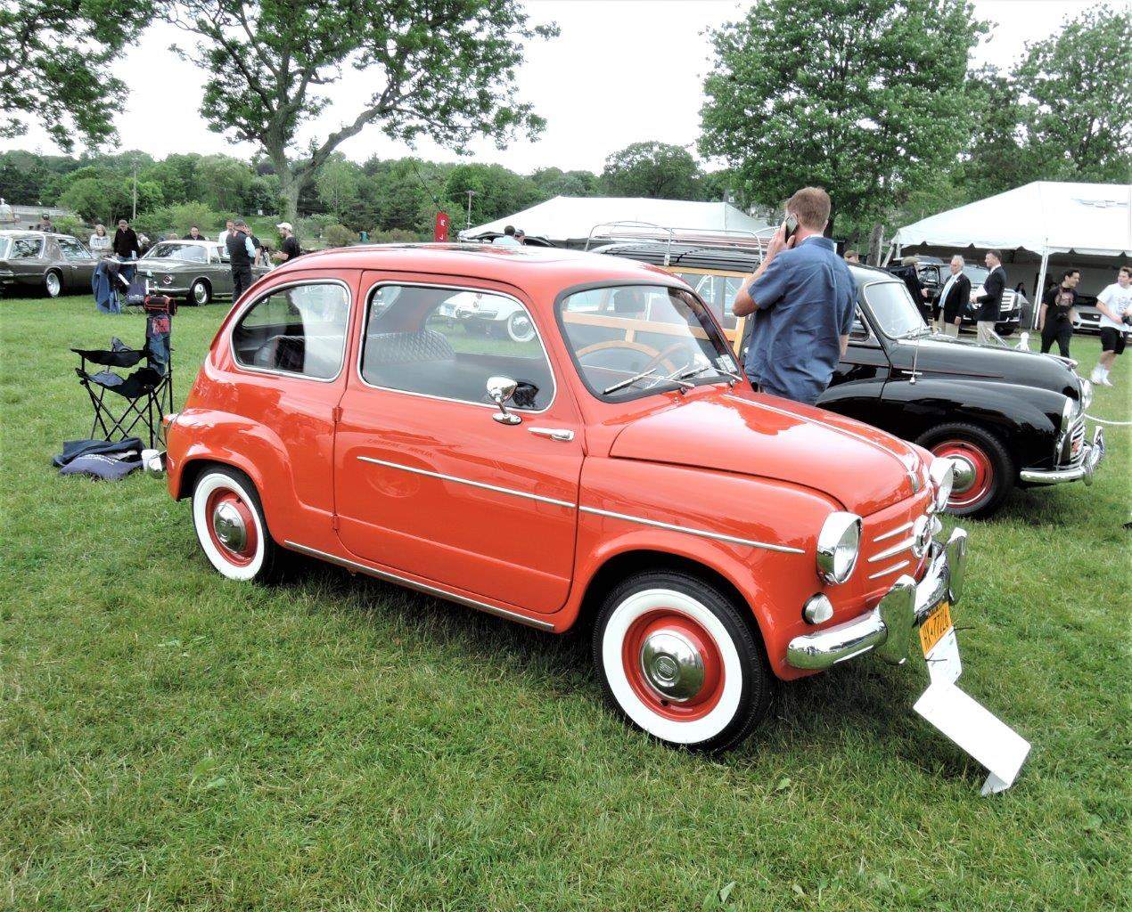 orange 1959 Fiat 600 - 2018 Greenwich Concours International