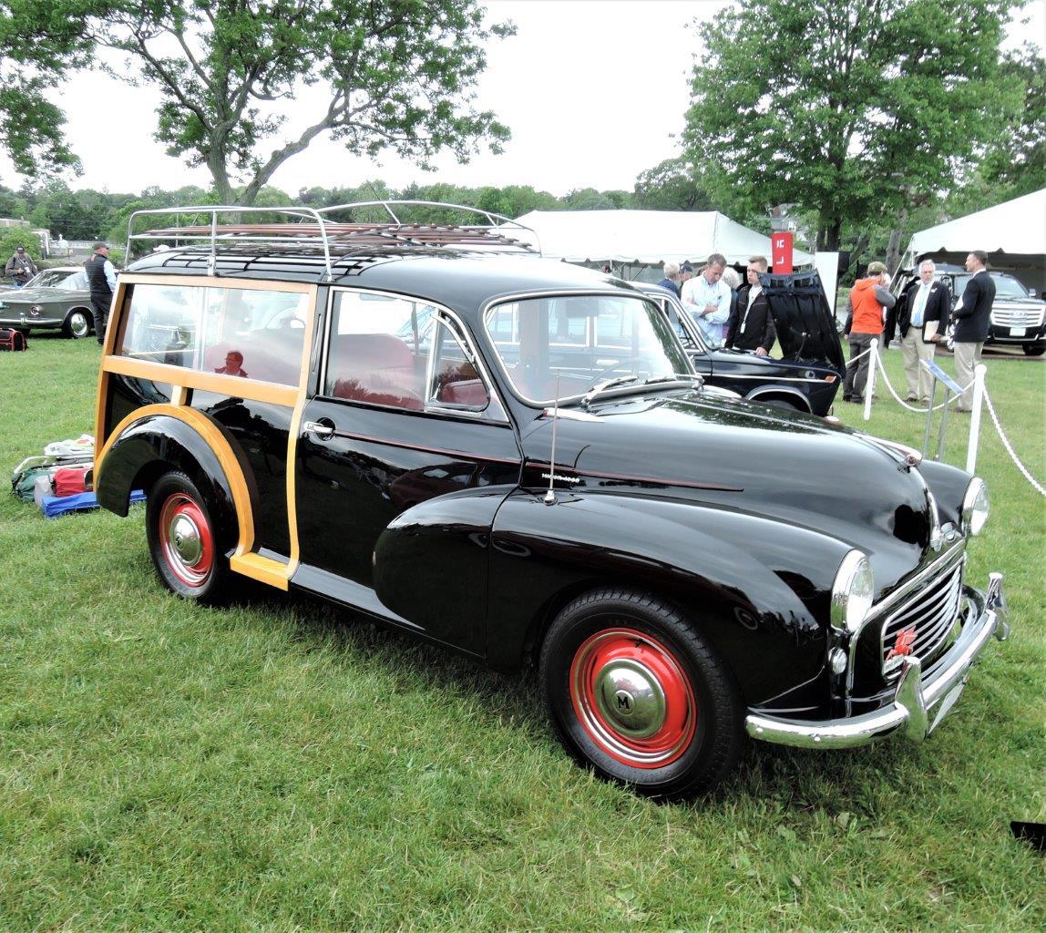 black/wood 1960 Morris Minor Traveller Estate Wagon - 2018 Greenwich Concours International