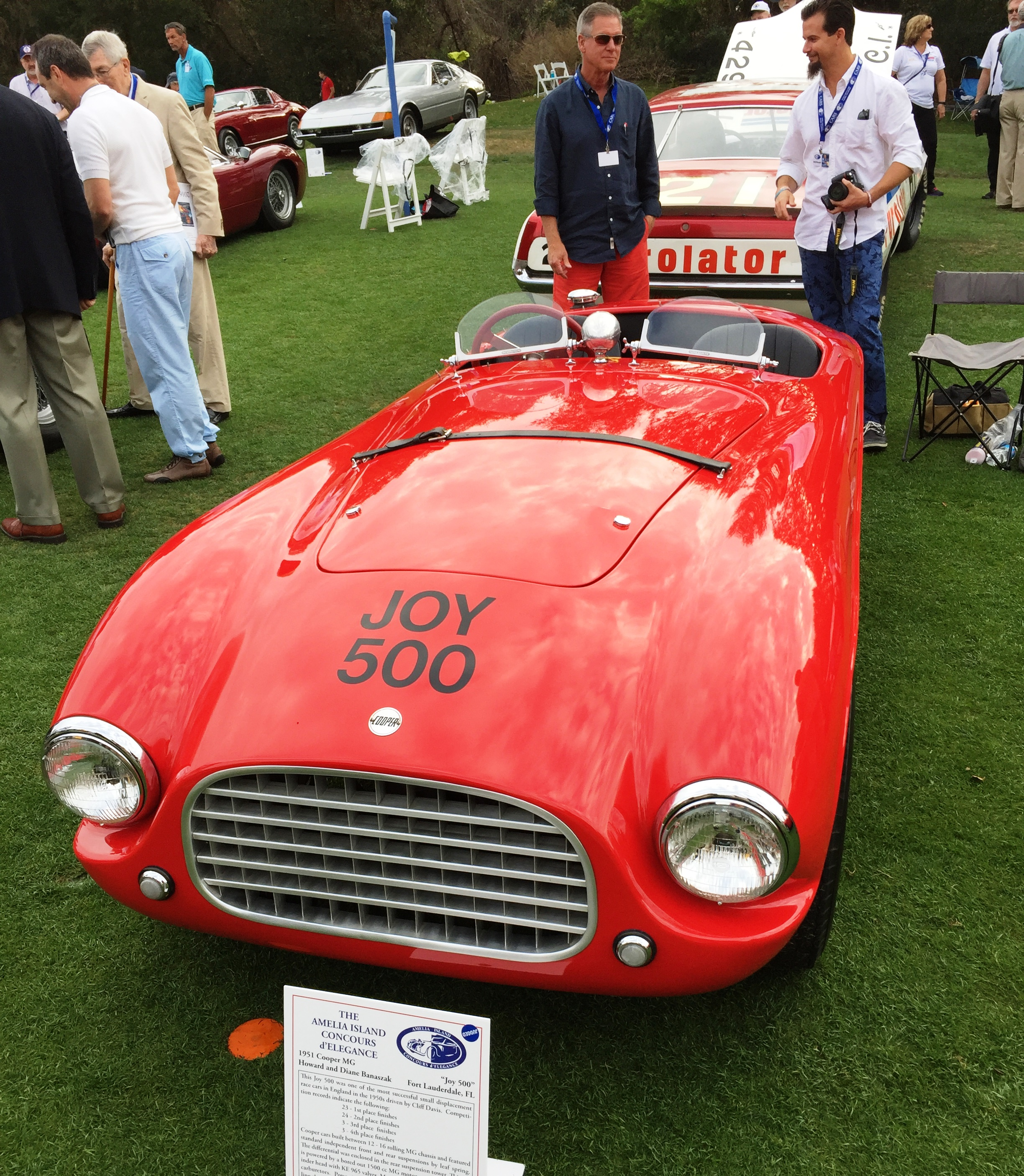 red 1951 Cooper MG - amelia island concours