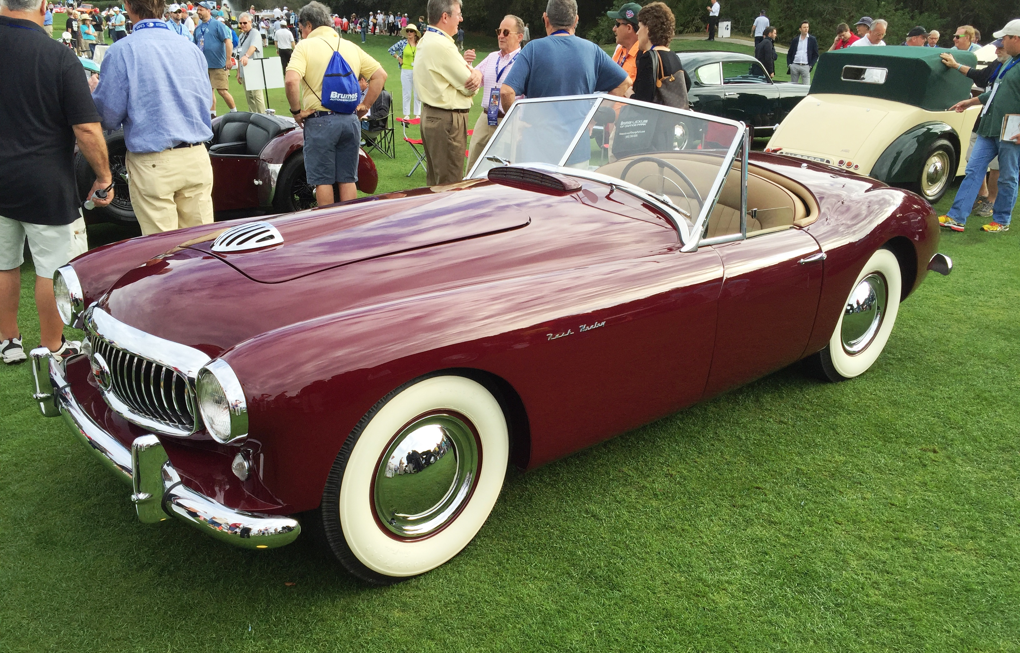 red Nash Healey - amelia island concours