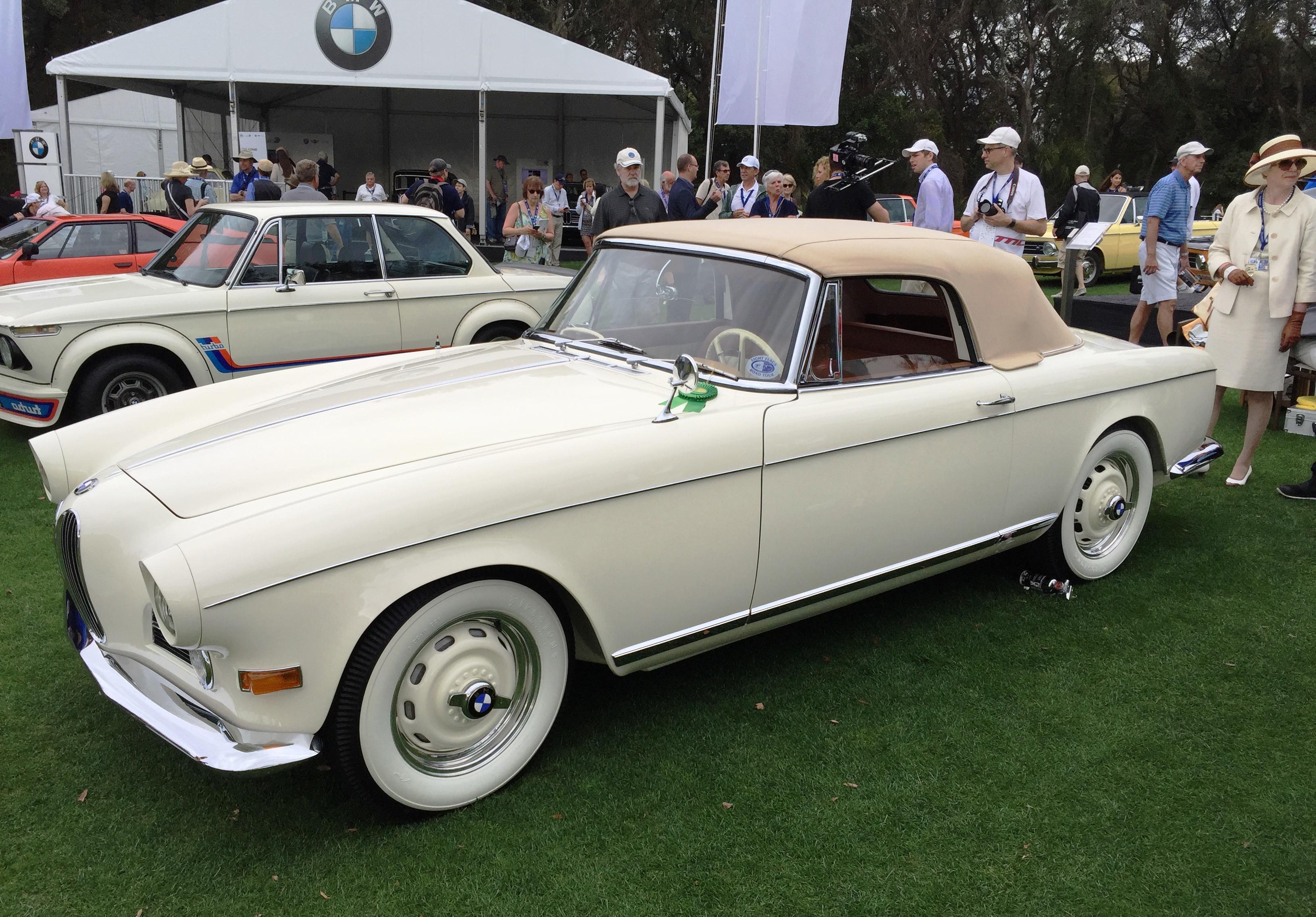 white BMW 503 - amelia island concours
