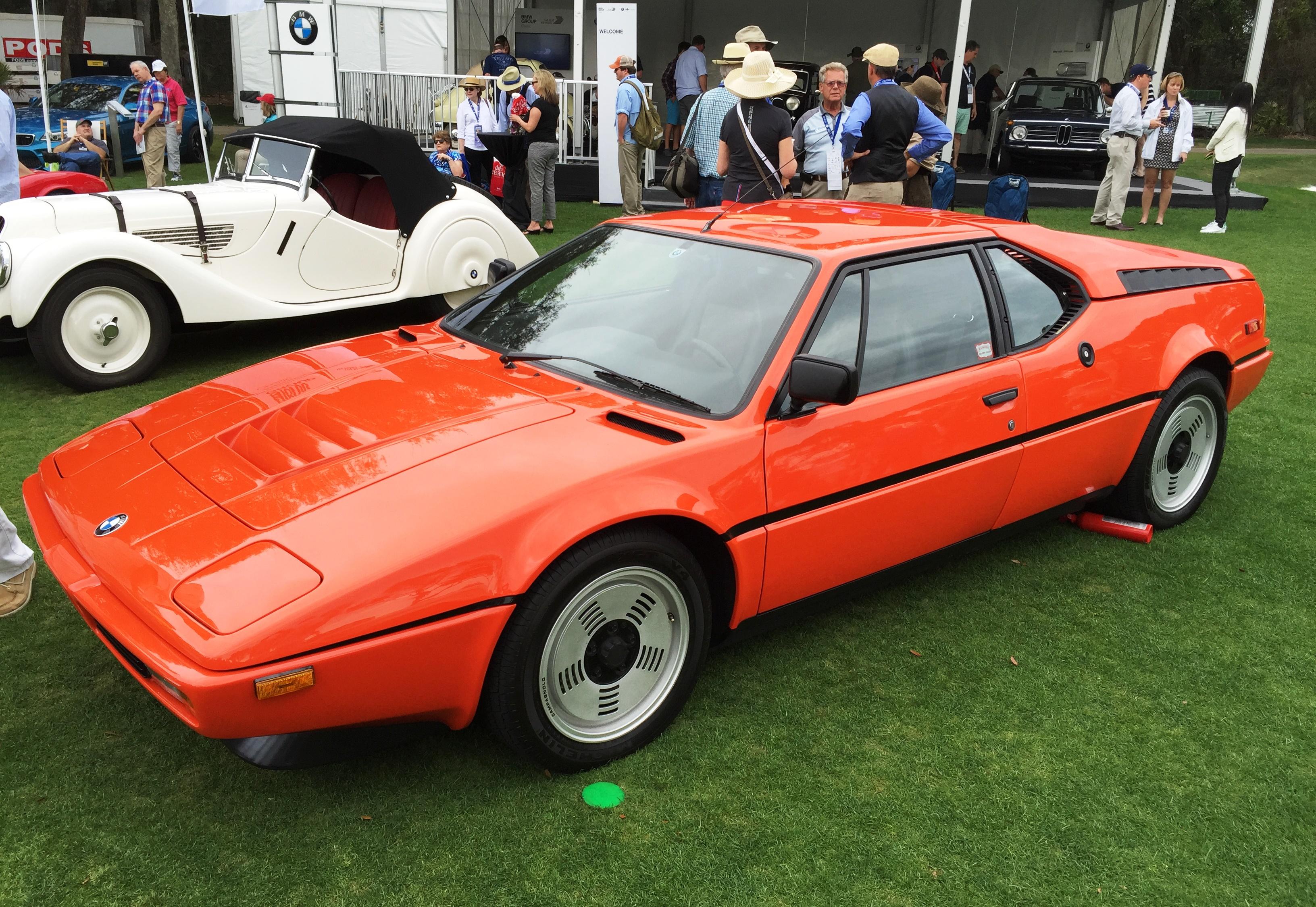 red BMW M1 - amelia island concours