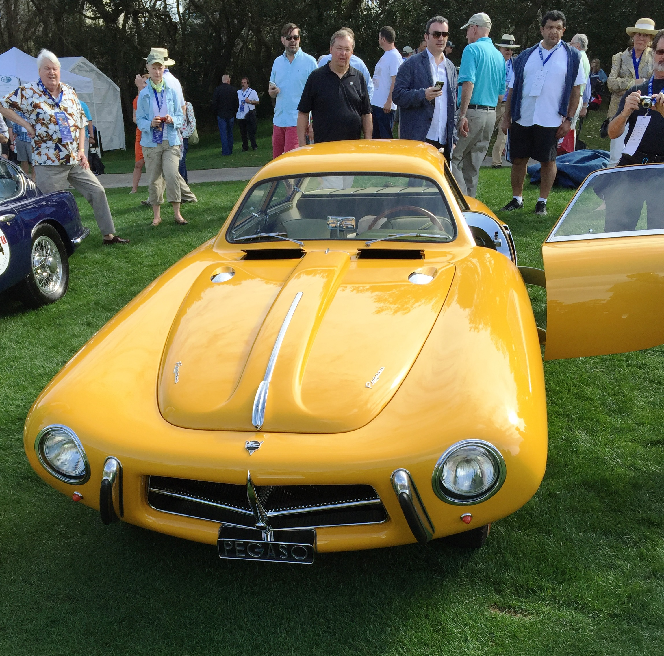 yellow pegaso best-in-show - amelia island concours