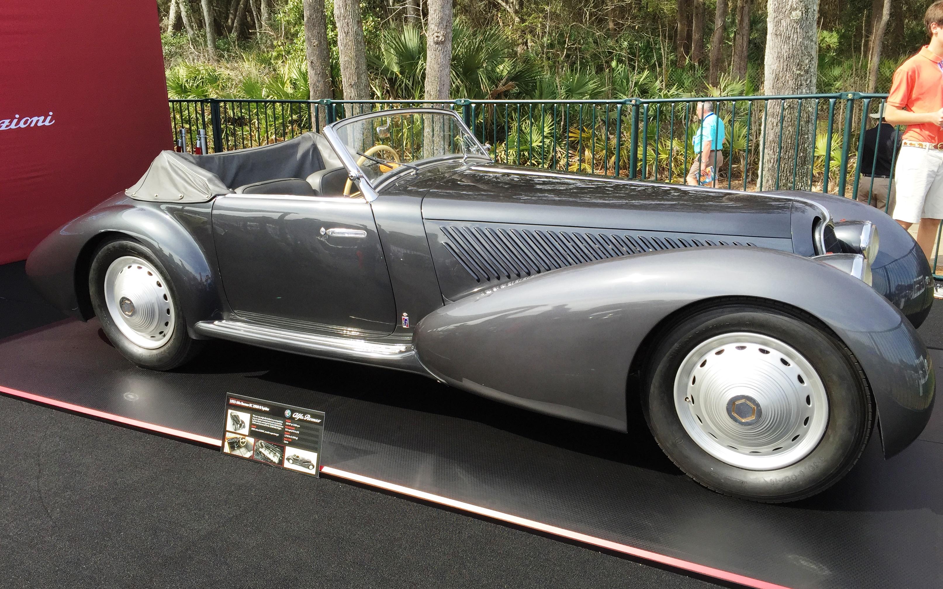 silver 1933 alfa romeo - amelia island concours